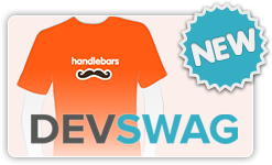 Buy Handlebars swag on DevSwag!